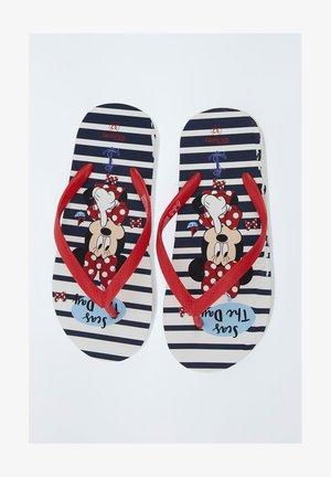 MICKEY & MINNIE  - T-bar sandals - red