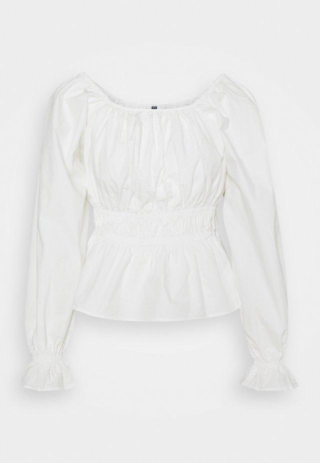 PCLAERKE - Long sleeved top - cloud dancer
