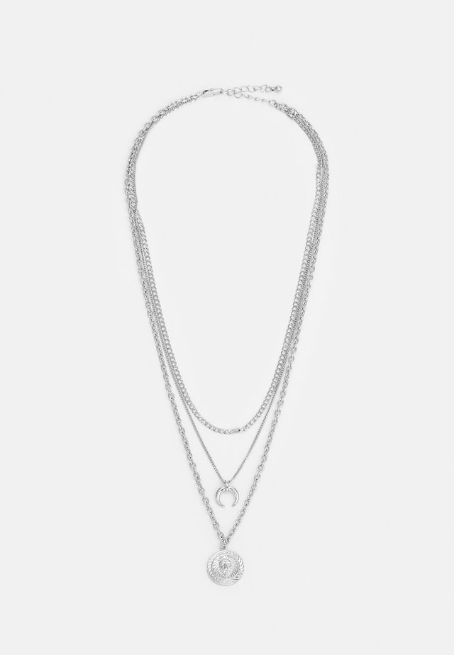 PCSANDY COMBI NECKLACE - Ketting - silver-coloured