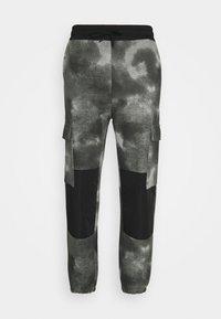 Mennace - TIE DYE TEXTURE MIX - Teplákové kalhoty - charcoal - 4