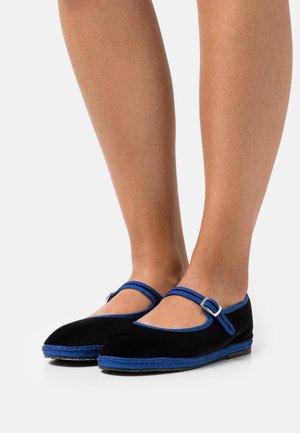 MARY JANE FURLANE - Slip-ons - black/blue