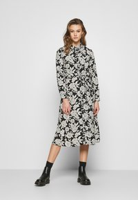 JDY - BARCELONA  - Košilové šaty - black/white - 0