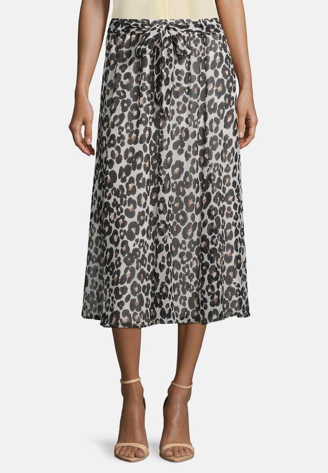 A-line skirt - weiß/schwarz