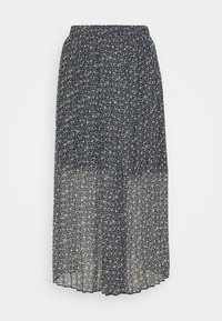 Abercrombie & Fitch - PLEATED MIDI SKIRT - A-line skirt - blue - 0