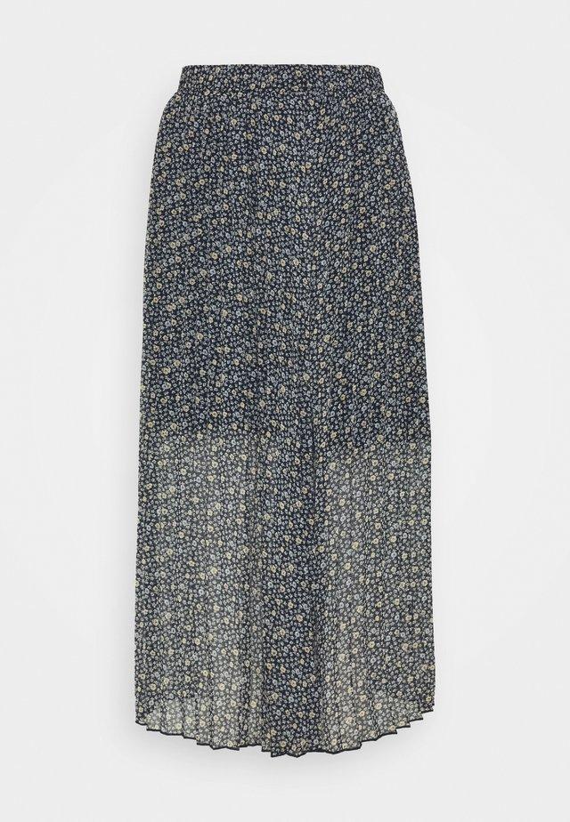 PLEATED MIDI SKIRT - Pleated skirt - blue