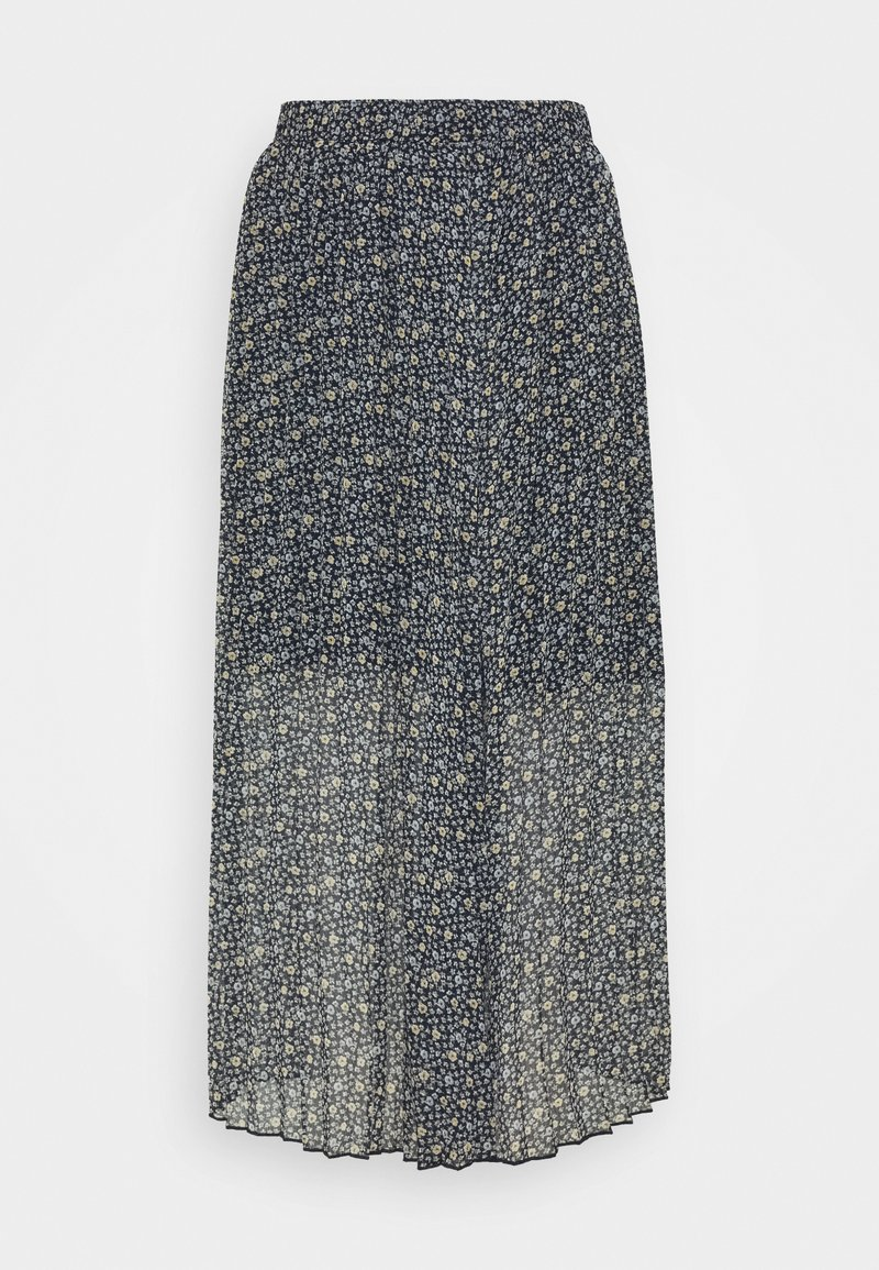 Abercrombie & Fitch - PLEATED MIDI SKIRT - A-line skirt - blue