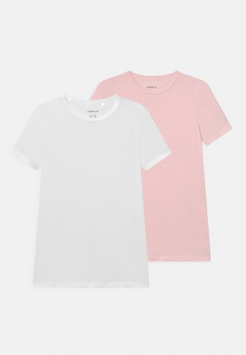 NKFTOP SLIM BARELY 2 PACK - Basic T-shirt - barely pink