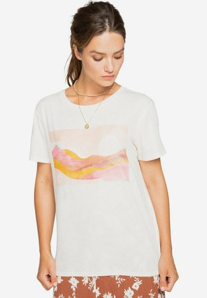 Print T-shirt - salt crystal