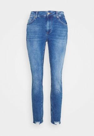 CARWILLY LIFE ANKEL RAW  - Jeans Skinny Fit - medium blue denim
