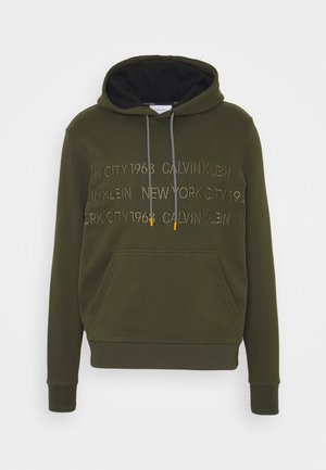 GRAPHIC EMBROIDERY HOODIE - Hoodie - green