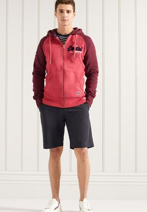 Zip-up hoodie - red marl