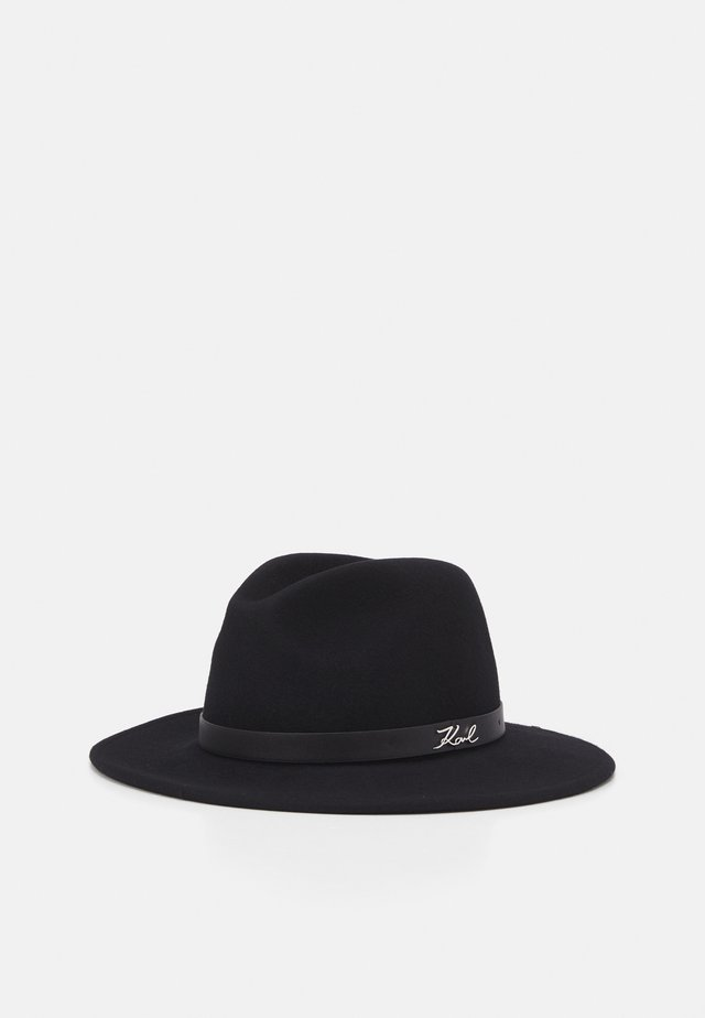 SIGNATURE FEDORA HAT - Hoed - black