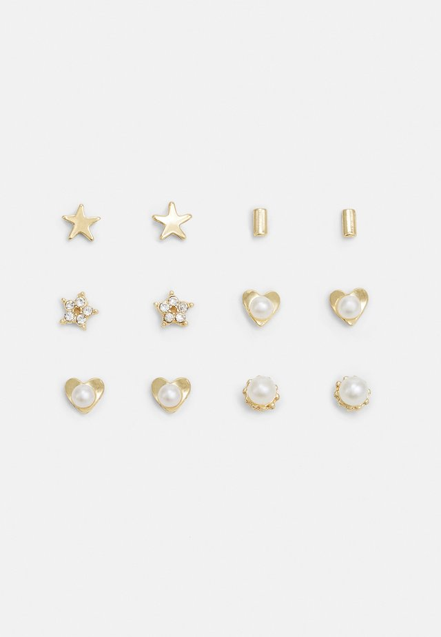 EARSTUD 6 PACK - Earrings - gold-coloured