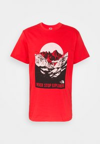The North Face - NATURAL WONDERS TEE VINTAGE - Print T-shirt - rococco red - 4