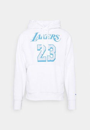 NBA LOS ANGELES LAKERS LEBRON JAMES CITY EDITION NAME NUMBER - Vereinsmannschaften - white/coast