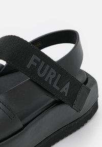 Furla - REAL FUSBET - Sandály na platformě - nero - 6