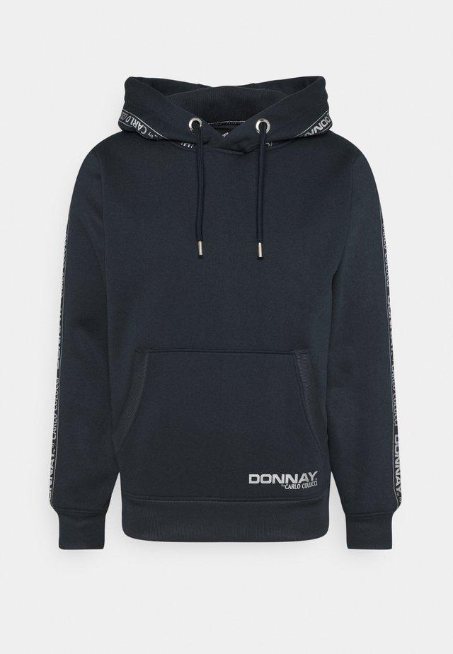 DONNAY X CARLO COLUCCI - Sweat à capuche - dark blue/silver