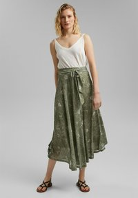 Esprit - Maxi skirt - light khaki - 1