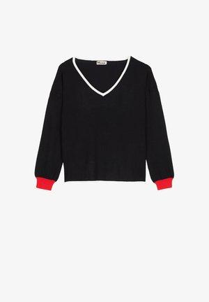UND KONTRASTEN - Sweatshirt - nero/latte/rosso