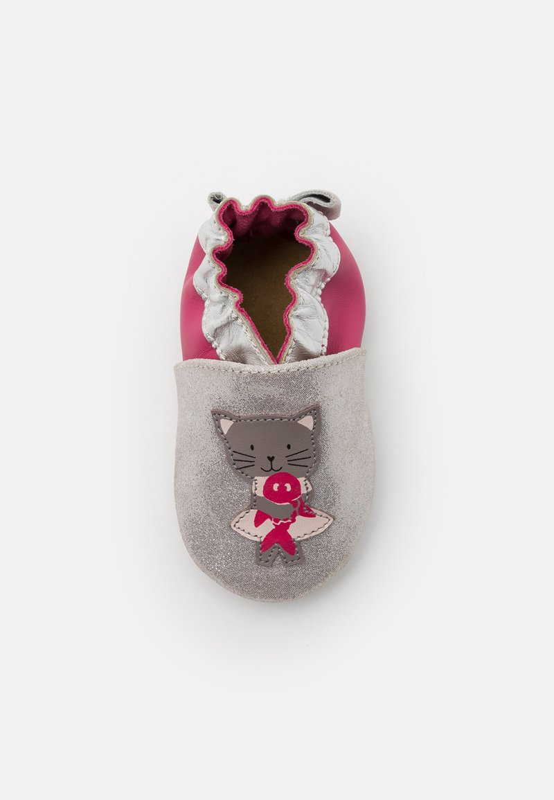 Robeez - CAT IN LOVE - First shoes - argent/fuchsia