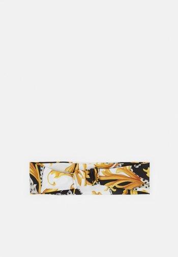 FASCIA PER CAPELLI - Hair styling accessory - bianco/nero/oro