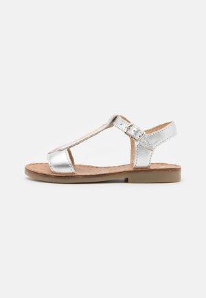 HAPPY TIE - Sandals - silver/multi fluo