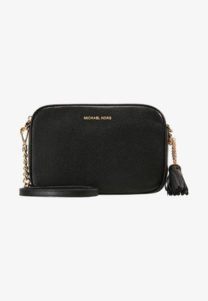 JET SET CAMERA BAG MERCER PEBBLE - Taška s příčným popruhem - black