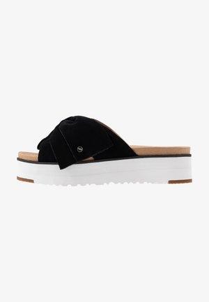 JOANIE - Pantofle na podpatku - black
