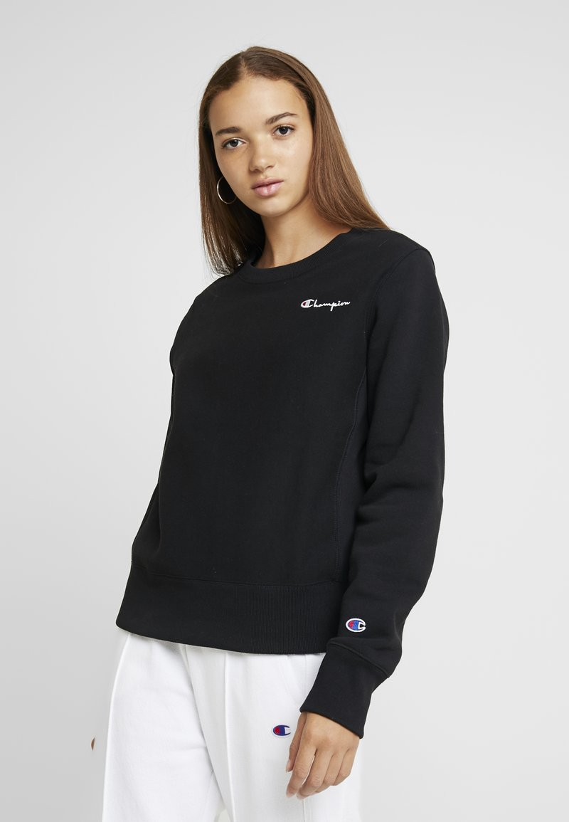 Champion Reverse Weave - SMALL SCRIPT CREWNECK - Sweatshirt - black