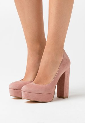 LEATHER - Zapatos altos - rose