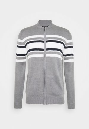 Cardigan - silver grey/ vintage white/french navy