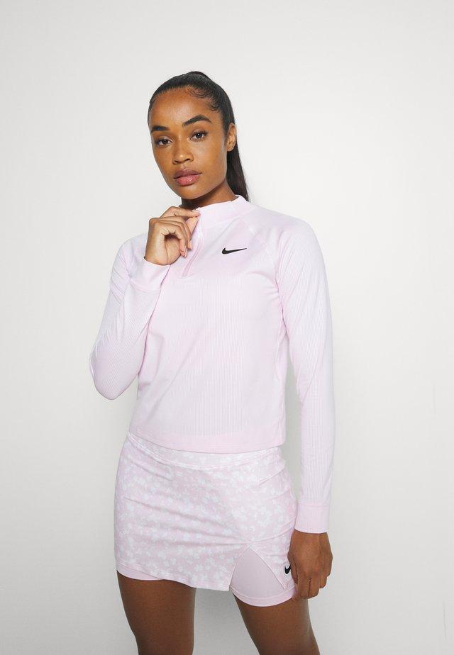 Long sleeved top - regal pink/black