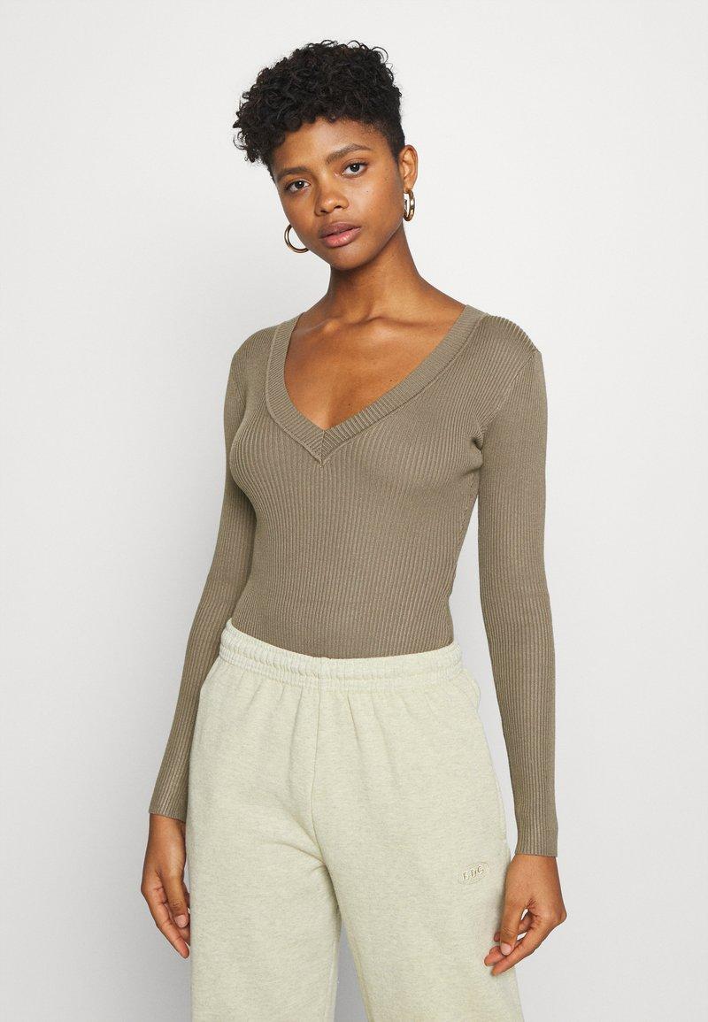 Missguided - NECK BODY - Pullover - khaki