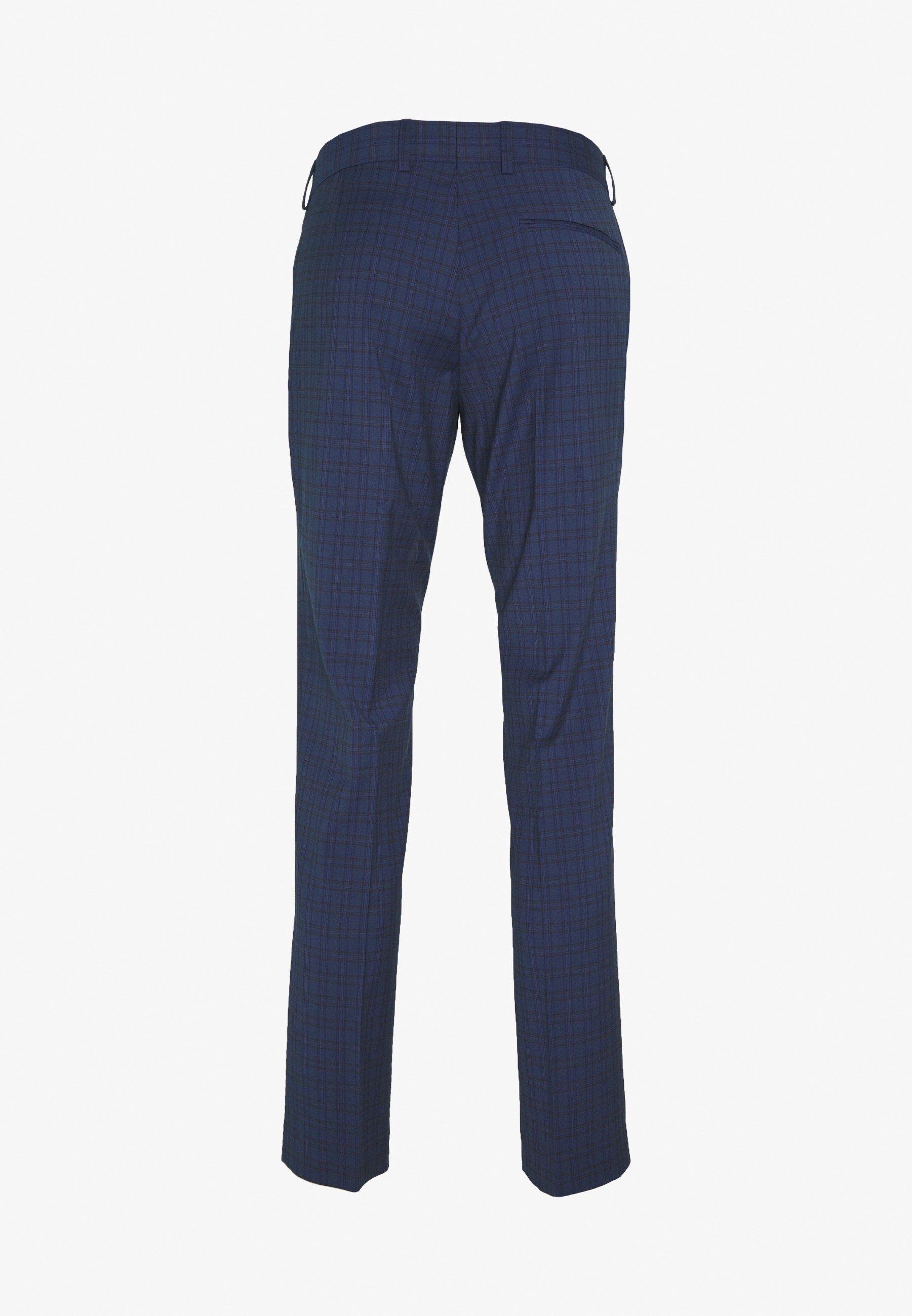 2020 Unisex Miesten vaatteet Sarja dfKJIUp97454sfGHYHD Isaac Dewhirst CHECK TUX Puku dark blue