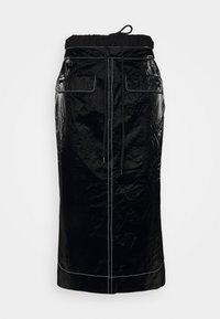 TAYLOR SKIRT - Pencil skirt - tyvek black