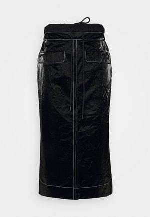 TAYLOR SKIRT - Pouzdrová sukně - tyvek black