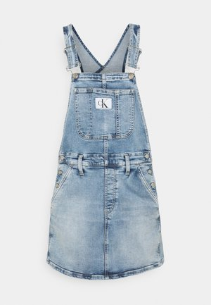 DUNGAREE - Denim dress - denim light