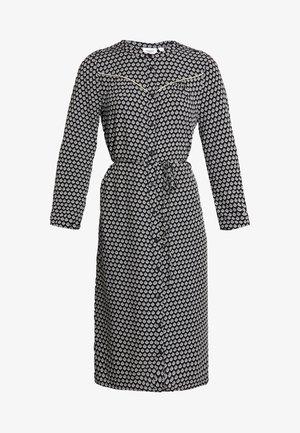 WOVEN DRESS BELLOW KNEE - Shirt dress - black