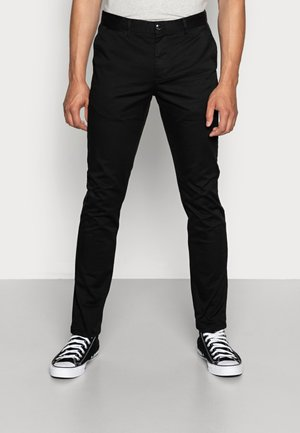 MOTT CLASSIC SLIM FIT - Chino - black