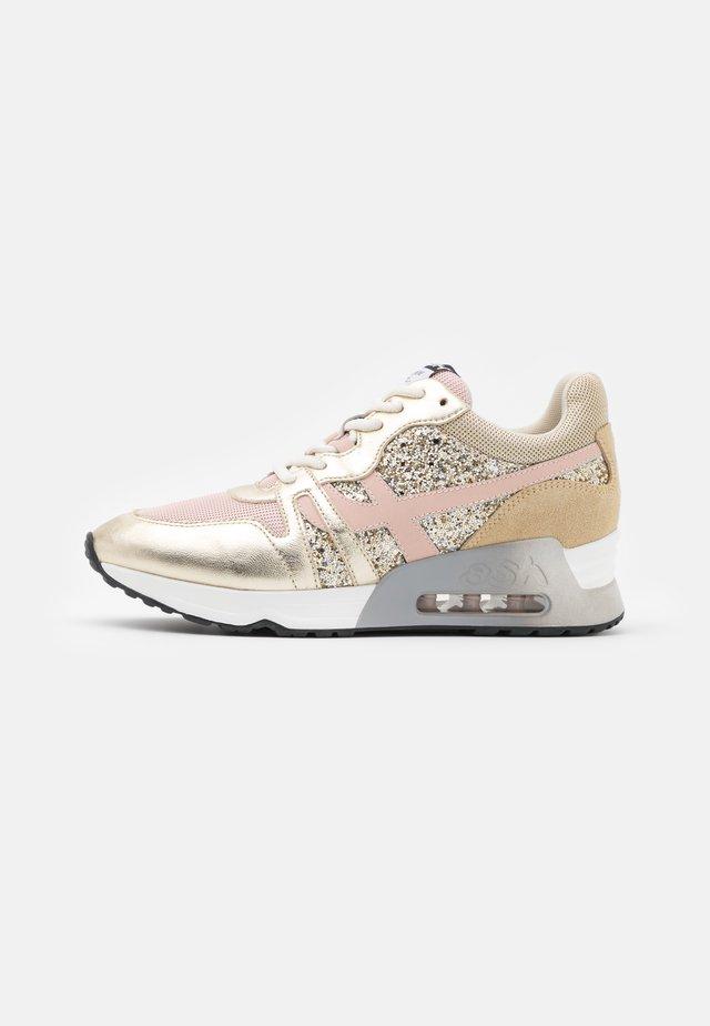 LUX - Sneakers - metallic platine/pink salt/glitter platine