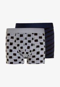Ten Cate - BOYS SHORT 2 PACK - Panties - light grey melee/deep blue - 0