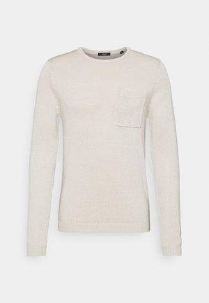 JPRMONK CREW NECK - Jumper - blanc de blanc