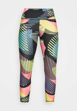 GEO PRINT - Leggings - black