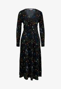 TOM TAILOR DENIM - MIT BLUMEN - Shirt dress - black flower print - 5