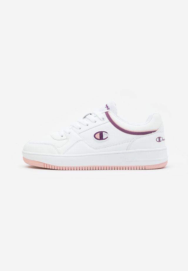 LOW CUT SHOE REBOUND - Zapatillas de baloncesto - white/violet/pink