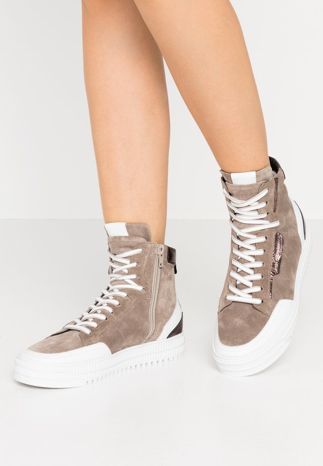 ZOOM - Baskets montantes - taupe/bia/bronze