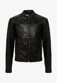 Produkt - PKTDLN DYLAN BIKER JACKET - Faux leather jacket - black - 4