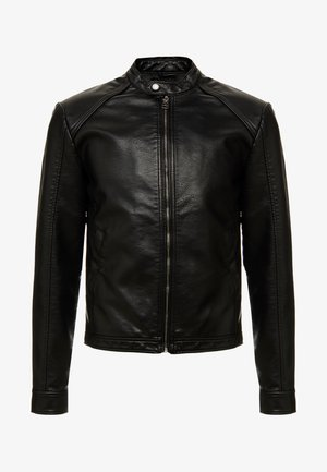 PKTDLN DYLAN BIKER JACKET - Faux leather jacket - black