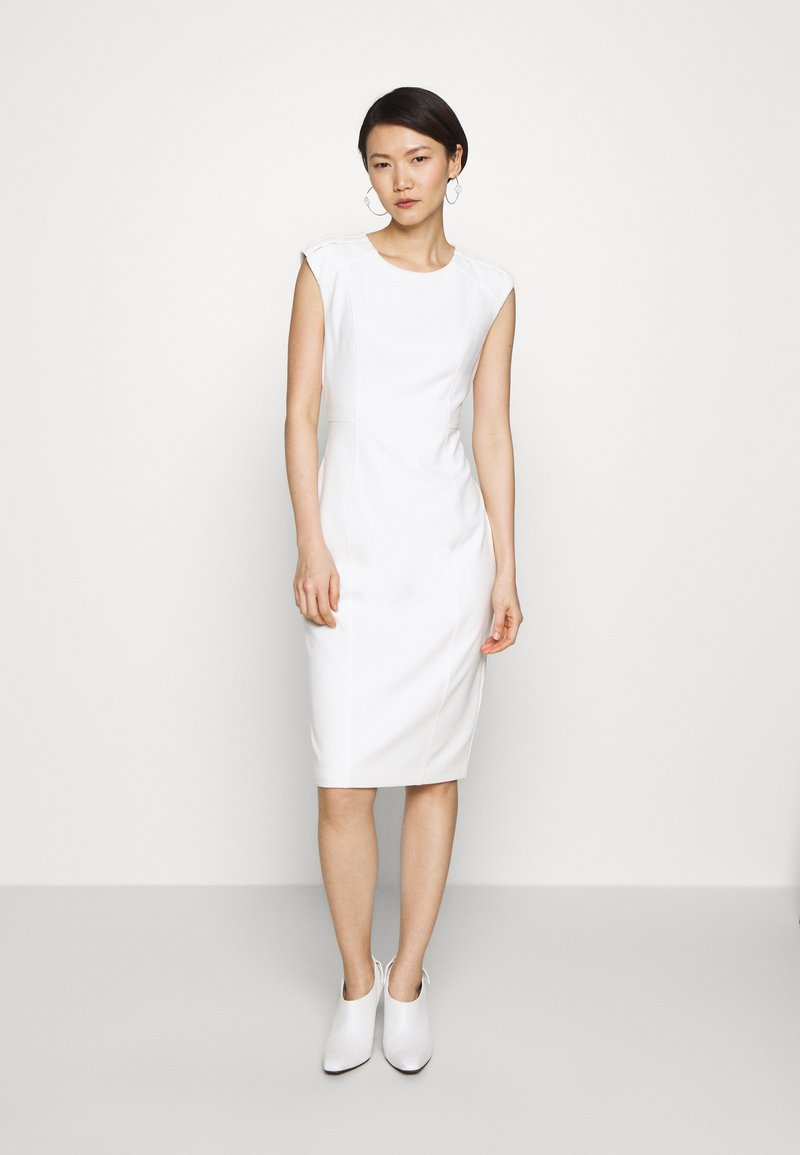 DKNY - SHEATH WITH SHOULDER DETAIL - Shift dress - cream