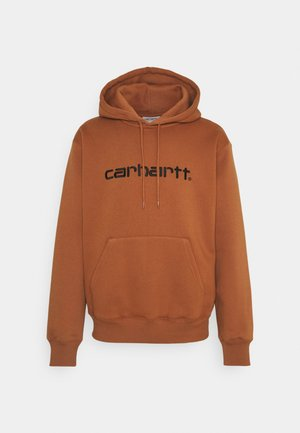 HOODED - Collegepaita - rum/black